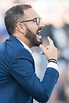 Coach Jose Bordalas Jimenez of Getafe CF gestures during the La Liga 2017-18 match between Getafe CF and Real Madrid at Coliseum Alfonso Perez on 14 October 2017 in Getafe, Spain. Photo by Diego Gonzalez / Power Sport Images