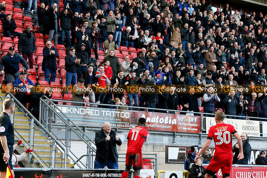 crowd celebrate after Gavin Massey scores the opener during Leyton Orient vs Carlisle United, Sky Bet EFL League 2 Football at the Matchroom Stadium on 4th February 2017