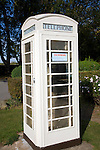 White telephone box, Hull, Yorkshire, England
