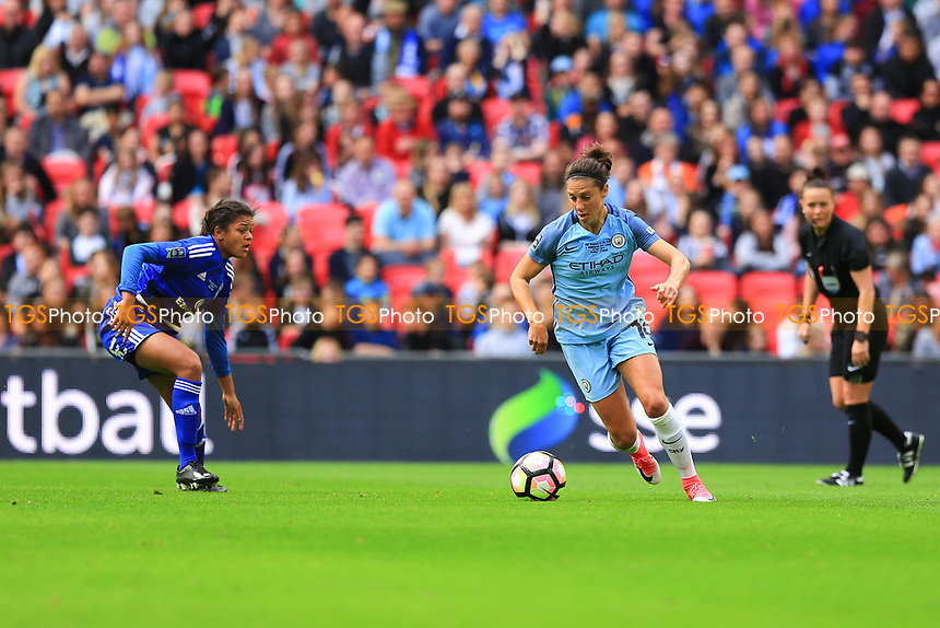 Carli Lloyd of Manchester City Women during Birmingham City Ladies vs Manchester City Women, SSE Women's FA Cup Final Football at Wembley Stadium on 13th May 2017