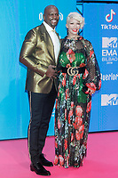 BILBAO, SPAIN-November 04:  Terry Crews and Rebecca King-Crews attend the EMA 2018 at BEC (Bilbao Exhibition Center) in Bilbao, Spain on the 4 of November of 2018. November04, 2018.  ***NO SPAIN*** <br /> CAP/MPI/RJO<br /> &copy;RJO/MPI/Capital Pictures