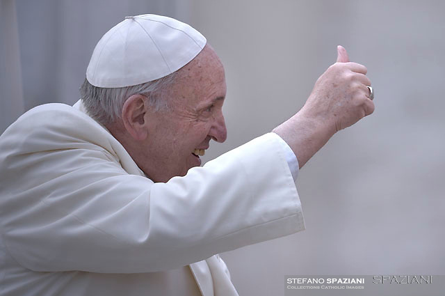 Pope Francis during of a weekly general audience at St Peter's square in Vatican.March 21, 2018