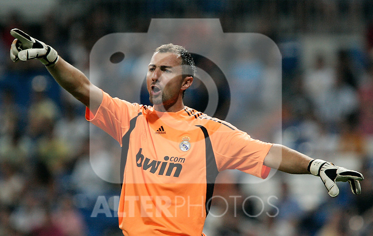 Real Madrid's Jerzy Dudek during friendly match. July 26, 2009. (ALTERPHOTOS/Alvaro Hernandez).