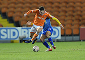 18/12/18 The Emirates FA Cup, 2nd Round Replay Blackpool v Solihull Moor<br /> <br /> Jordan Thompson avoids a challenge by Jordan Murphy