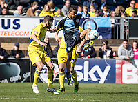 Jerell Sellars of Wycombe Wanderers during the Sky Bet League 2 match between Wycombe Wanderers and Accrington Stanley at Adams Park, High Wycombe, England on the 30th April 2016. Photo by Liam McAvoy / PRiME Media Images.
