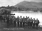 Killarney fishermen pictured at Ross castle in ther 1930's..Picture by Daniel MacMonagle.from the MacMonagle, Killarney photo archive.www.macmonagle.com