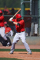 Los Angeles Angels Wade Wass (22) during an instructional league game against the Oakland Athletics on October 9, 2015 at the Tempe Diablo Stadium Complex in Tempe, Arizona.  (Mike Janes/Four Seam Images)