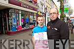 Jason Murphy and Stephen Murphy staff at Elverys Tralee who are asking people to sign their petition to save their jobs in Elvery's Sports Killarney
