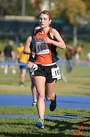 Nov 14, 2015; Claremont, CA, USA; Camille Anderson of Occidental runs in the womens race during the 2015 NCAA Division III West Regionals cross country championships at Pomona-Pitzer College. (Freelance photo by Kirby Lee)