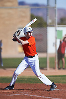 Alex Valastro (48), from Georgetown, Texas, while playing for the Orioles during the Under Armour Baseball Factory Recruiting Classic at Gene Autry Park on December 30, 2017 in Mesa, Arizona. (Zachary Lucy/Four Seam Images)