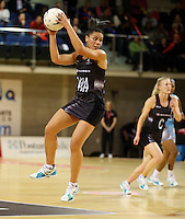 16.07.2015 Silver Ferns Grace Rasmussen in action during the Silver Fern v Fiji netball test match played at Te Rauparaha Arena in Porirua. Mandatory Photo Credit ©Michael Bradley.