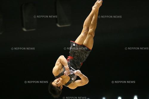 Wataru Tanigawa, <br /> APRIL 1, 2016 - Artistic Gymnastics :<br /> The 70th All Japan Artistic Gymnastics Individual All-Around Championship<br /> Men's Qualification<br /> Floor <br /> at 1st Yoyogi Gymnasium, Tokyo, Japan.<br /> (Photo by Yohei Osada/AFLO SPORT)