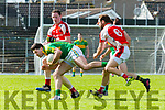 Bryan Sheehan South Kerrytakes a heavy hit from Mark Crowley  Rathmore during their SFC clash in Fitzgerald Stadium on Sunday
