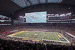 A general view of Cowboys Stadium during the Pittsburgh Steelers opening play from scrimmage during the Super Bowl XLV football game against the Green Bay Packers on Sunday, February 6, 2011, in Arlington, Texas. The Packers won 31-25. (AP Photo/David Stluka)