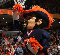 The Virginia Cavalier mascot during the game against North Carolina in Charlottesville, Va. North Carolina defeated Virginia 54-51.