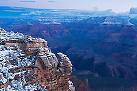 Mather Point winter sunrise, Grand Canyon national park, Arizona, USA