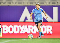 Orlando, FL - Saturday September 10, 2016: Kelley O'Hara during a regular season National Women's Soccer League (NWSL) match between the Orlando Pride and Sky Blue FC at Camping World Stadium.