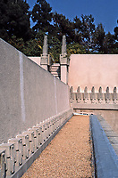Frank Lloyd Wright:  Hollyhock House--detail.  Mayan influence.  Photo May 1982.