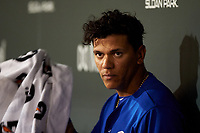 AZL Cubs 1 Pedro Martinez (11) during an Arizona League game against the AZL Giants Orange on July 10, 2019 at Sloan Park in Mesa, Arizona. The AZL Giants Orange defeated the AZL Cubs 1 13-8. (Zachary Lucy/Four Seam Images)