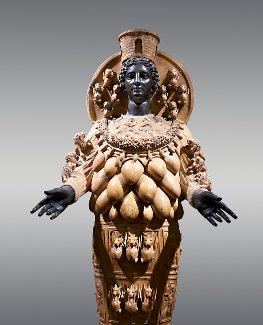2nd century AD Roman statue of Artemis of Ephesus (Copy of the Greek Classical original), inv no 6278,  The Farnese collection, Naples Archiological Musuem, Italy