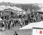 The young and the young at heart visiting the circus when it came to Waterbury in the 1930s.