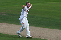 Simon Harmer of Essex appeals successfully for the wicket of Kraigg Brathwaite during Nottinghamshire CCC vs Essex CCC, Specsavers County Championship Division 1 Cricket at Trent Bridge on 12th September 2018