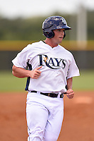 GCL Rays outfielder Patrick Grady (24) running the bases during a game against the GCL Red Sox on June 24, 2014 at Charlotte Sports Park in Port Charlotte, Florida.  GCL Red Sox defeated the GCL Rays 5-3.  (Mike Janes/Four Seam Images)