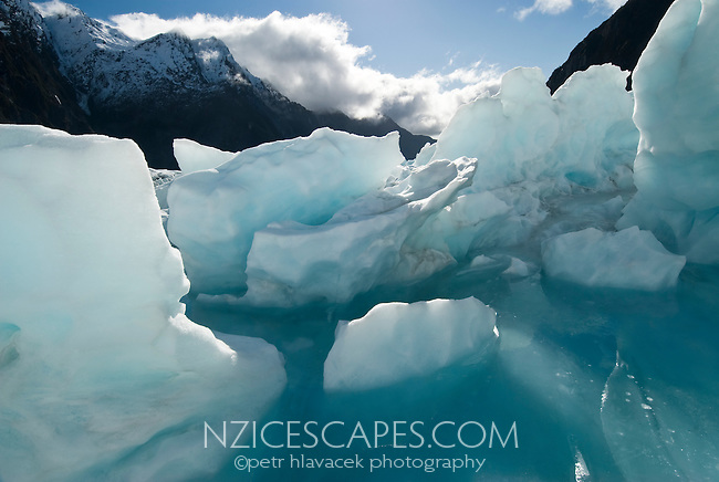 Melt water pool on the Franz Josef Glacier - Westland National Park, West Coast, New Zealand