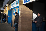 Home fans waiting for kick-off before Ipswich Town play Oxford United in a SkyBet League One fixture at Portman Road. Both teams were in contention for promotion as the season entered its final months. The visitors won the match 1-0 through a 44th-minute Matty Taylor goal, watched by a crowd of 19,363.