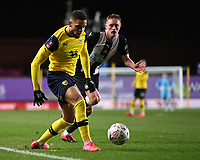 4th February 2020; Kassam Stadium, Oxford, Oxfordshire, England; English FA Cup Football; Oxford United versus Newcastle United; Marcus Browne of Oxford plays the ball into the penalty area