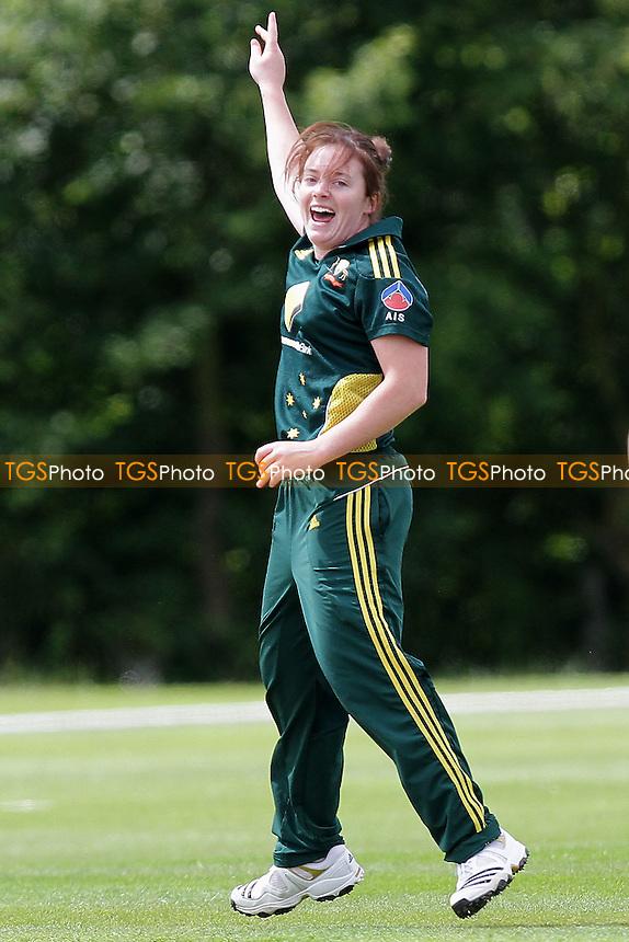 Sarah Coyte of Australia celebrates the wicket of  Snehal Pradhan - Australia Women vs India Women - NatWest Women's Quadrangular T20 Series Cricket at Billericay Cricket Club - 23/06/11 - MANDATORY CREDIT: Gavin Ellis/TGSPHOTO - Self billing applies where appropriate - Tel: 0845 094 6026