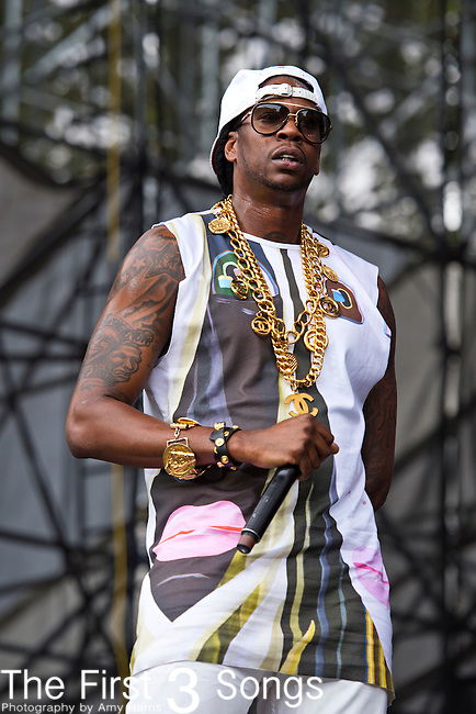 2 Chainz (born Tauheed Epps) performs during the 2013 Budweiser Made in America Festival in Philadelphia, Pennsylvania.