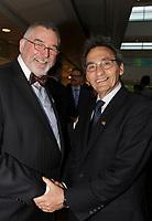 Thierry Saint-Arnaud,  President de la Chambre de Commerce LGBT du Quebec (G)   et  Richard Bergeron (D)  lors du<br /> 13 ieme Gala Phenicia , 25 mai 2017<br /> <br /> PHOTO : Agence Quebec Presse