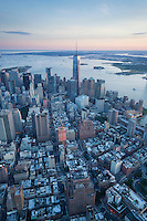 Freedom Tower, financial district, aerial view, New York, NY