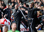 Nigel Adkins manager of Sheffield Utd reacts on the touchline - English League One - Fleetwood Town vs Sheffield Utd - Highbury Stadium - Fleetwood - England - 5rd March 2016 - Picture Simon Bellis/Sportimage
