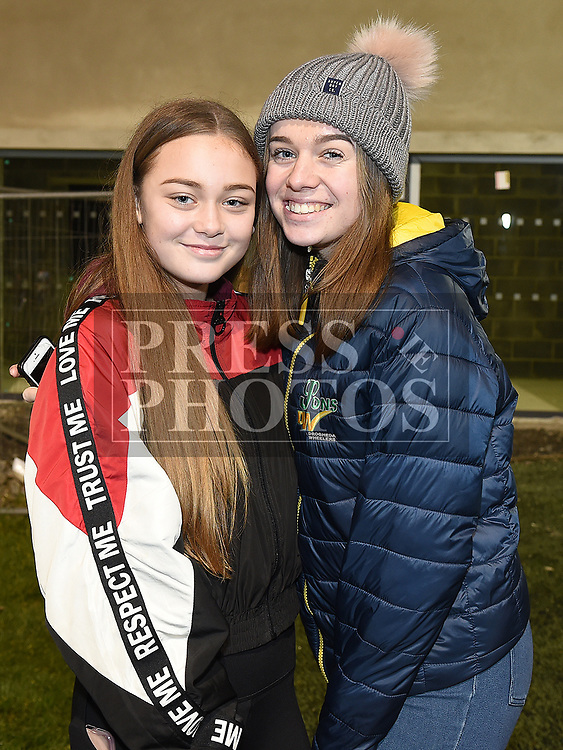 Denagh Hughes and Emma Tully at the Emmet Lynch memorial match. Photo:Colin Bell/pressphotos.ie