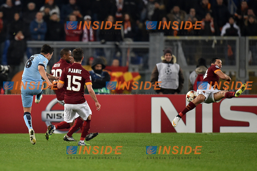 gol di Samir Nasri Manchester Goal celebration <br /> Roma 10-12-2014 Stadio Olimpico, Football Champions League Group Stage Group E . AS Roma - Manchester City. Foto Andrea Staccioli / Insidefoto