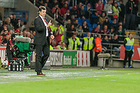 Wednesday 4th  December 2013 Pictured: Manager of Wales, Chris Coleman <br /> Re: UEFA European Championship Wales v Cyprus at the Cardiff City Stadium, Cardiff, Wales, UK