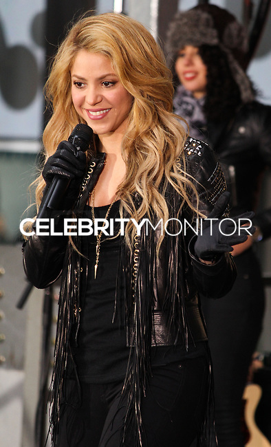 "NEW YORK, NY, USA - MARCH 26: Shakira Performs On NBC's ""Today"" at Rockefeller Plaza on March 26, 2014 in New York City, New York, United States. (Photo by Jeffery Duran/Celebrity Monitor)"