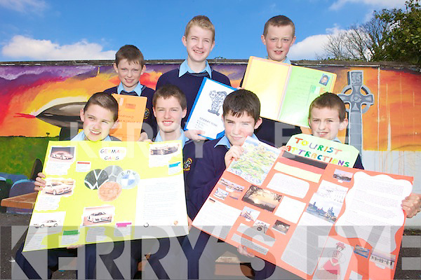 GERMAN PROJECT: Students from Scoil Phobail Sliabh Luachra in Rathmore who are heading to UCC with their German projects, front l-r: Michea?l O'Shea, Brian Fitzgerald, Daniel Murphy, Liam Whitford. Back l-r: Conor Crowley, Andrew McCarthy, Andrew Cronin.