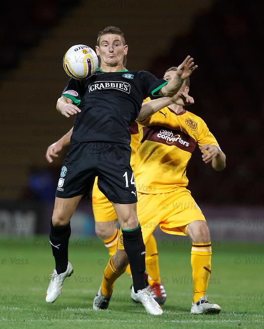 Martin Scott traps the ball