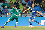 Getafe's Pablo Sarabia (r) and Sociedad Deportiva Eibar's Ivan Ramis during La Liga match. March 18,2016. (ALTERPHOTOS/Acero)