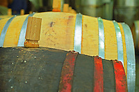 "The Royal Tokaji Wine Company winery: Wooden Barrels with fermenting tokaj wine in the winery. The RTWC in was one of the first Tokaj wineries to be ""revived"" by an injection of foreign capital. It makes wine in a traditional style. Credit Per Karlsson BKWine.com"