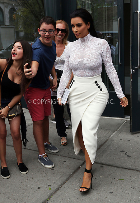 WWW.ACEPIXS.COM<br /> <br /> May 5 2015, New York City<br /> <br /> Kim Kardashian leaves her Soho apartment on May 5 2015 in New York City<br /> <br /> By Line: Zelig Shaul/ACE Pictures<br /> <br /> <br /> ACE Pictures, Inc.<br /> tel: 646 769 0430<br /> Email: info@acepixs.com<br /> www.acepixs.com