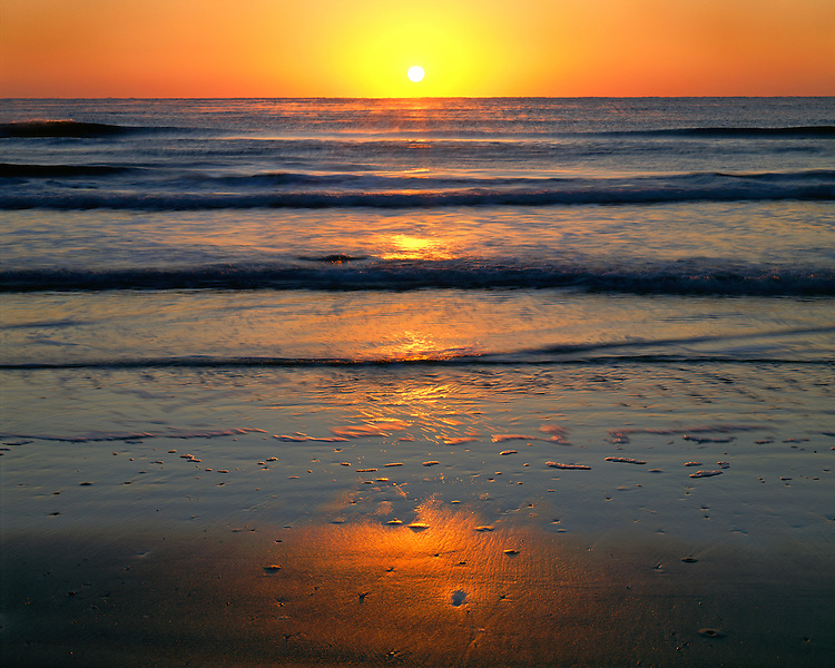Sunrise on the Gulf of Mexico at Padre island; Padre Island National Seashore, TX