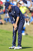 Webb Simpson (Team USA) putts on the 9th green during Saturday's Foursomes Matches at the 2018 Ryder Cup 2018, Le Golf National, Ile-de-France, France. 29/09/2018.<br /> Picture Eoin Clarke / Golffile.ie<br /> <br /> All photo usage must carry mandatory copyright credit (&copy; Golffile | Eoin Clarke)