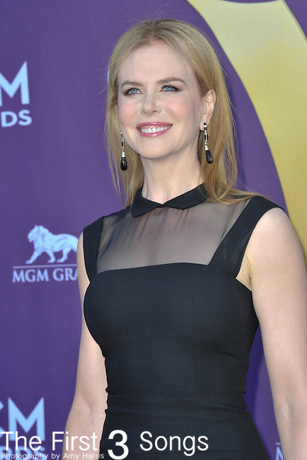 Nicole Kidman attends the 47th Annual Academy of Country Music Awards in Las Vegas, Nevada on April 1, 2012.