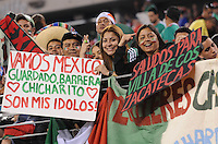 Mexico fans.   Mexico defeated Guatemala 2-1 in the quaterfinals for the 2011 CONCACAF Gold Cup , at the New Meadowlands Stadium, Saturday June 18, 2011.