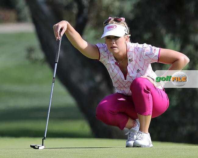 23 MAR 13 Californian Paula Creamer during Saturdays Third Round at The KIA Classic at Aviara Golf Club in Carlsbad, California. (photo:  kenneth e.dennis / kendennisphoto.com) www.golffile.ie