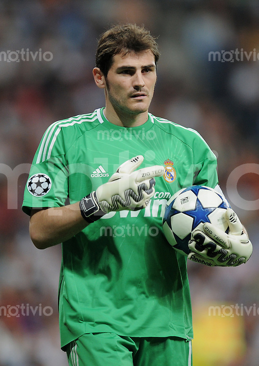 FUSSBALL   CHAMPIONS LEAGUE   SAISON 2010/2011   Halbfinale  27.04.2011 Real Madrid  -  FC Barcelona Iker Casillas (Real Madrid)